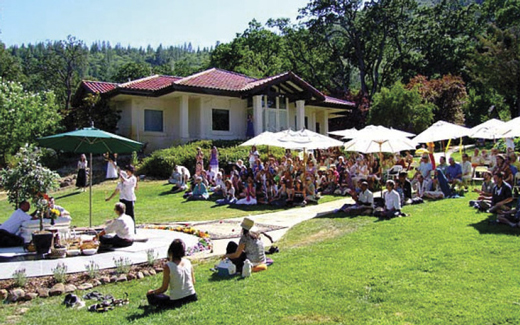 Devotees at the Mountain of Attention Sanctuary, California, 2005